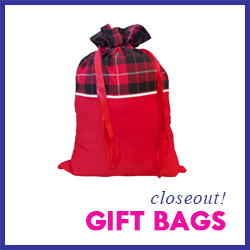 Closeout Christmas Gift Bags