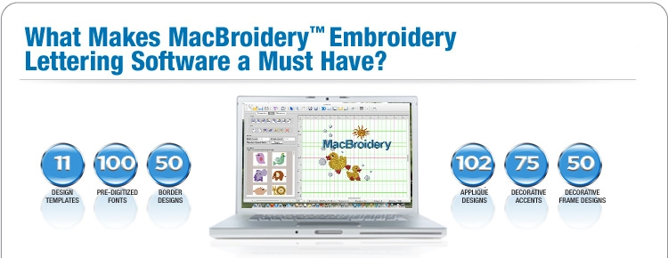 MacBroidery™  Embroidery Machine Compatible