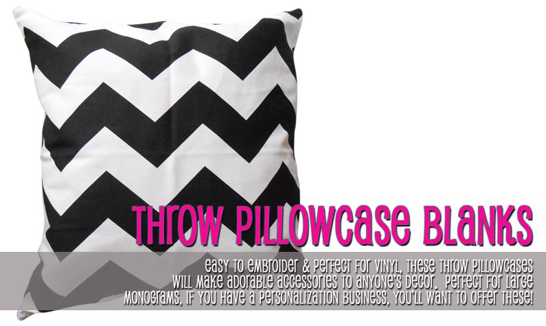 Throw Pillowcase Blanks
