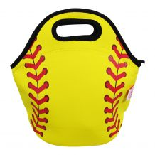 The Coral Palms® Softball Print Neoprene Lunch Tote