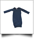 The Coral Palms� EasyStitch Newborn Layette Gown with Invisible Zipper for Easy Embroidery - NAVY