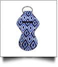 The Coral Palms� Neoprene Chapstick Holder - Blue Ikat Ogee Collection
