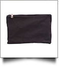 The Coral Palms® Canvas Makeup Bag - BLACK