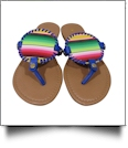 The Coral Palms� EasyStitch Medallion Sandal with Royal Blue Accents