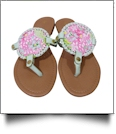 The Coral Palms� EasyStitch Medallion Sandal with Mint Accents