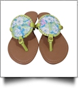The Coral Palms� EasyStitch Medallion Sandal with Lime Accents