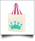 Princess Crown Canvas Halloween Treat Bag
