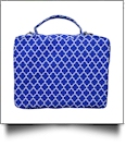 The Coral Palms® Bible Cover with Zipper Closure - BLUE QUATREFOIL