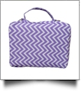 The Coral Palms® Bible Cover with Zipper Closure - LAVENDER CHEVRON