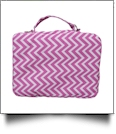 The Coral Palms® Bible Cover with Zipper Closure - PINK CHEVRON
