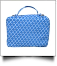 The Coral Palms® Bible Cover with Zipper Closure - SKY BLUE QUATREFOIL