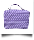 The Coral Palms® Bible Cover with Zipper Closure - LAVENDER QUATREFOIL