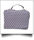 The Coral Palms® Bible Cover with Zipper Closure - GRAY QUATREFOIL