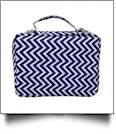 The Coral Palms® Bible Cover with Zipper Closure - MIDNIGHT CHEVRON