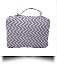 The Coral Palms® Bible Cover with Zipper Closure - GRAY CHEVRON