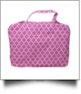 The Coral Palms® Bible Cover with Zipper Closure - PINK QUATREFOIL