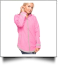 The Coral Palms® Tunic-Style UltraLite Full-Zip Rain Jacket - PINK