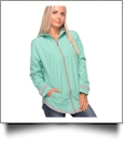 The Coral Palms® Tunic-Style UltraLite Full-Zip Rain Jacket - MINT