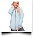 The Coral Palms® Tunic-Style UltraLite Full-Zip Rain Jacket - AQUA