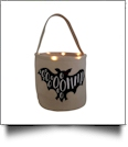 The Coral Palms® Light-Up Monogrammable Halloween Trick or Treat Bucket Tote - BAT