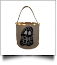 The Coral Palms® Light-Up Monogrammable Halloween Trick or Treat Bucket Tote - GHOST
