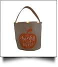 The Coral Palms® Light-Up Monogrammable Halloween Trick or Treat Bucket Tote - PUMPKIN