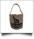 The Coral Palms® Light-Up Monogrammable Halloween Trick or Treat Bucket Tote - WITCH HAT