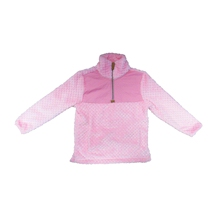 The Coral Palms� Kids Quarter-Zip Fleece Sherpa Pullover - PETAL PINK