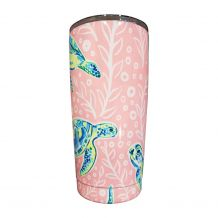 The Coral Palms® 20oz Double Wall Stainless Steel Super Tumbler - SOLELY SEA TURTLES