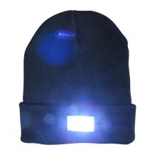 The Coral Palms� LED Stocking Cap Embroidery Blanks - BLACK