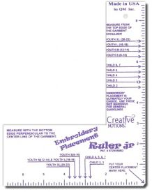 Embroiderer's Placement Ruler Jr.