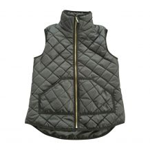 Diamond Quilted Puffy Vest - BLACK - CLOSEOUT