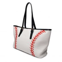 The Coral Palms� Fast Ball Premium Faux Leather and Embroidered Laces Baseball Tote - PRE-ORDER