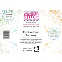 WunderStitch 1.8oz Medium Weight Tearaway Embroidery Stabilizer 9in x 10yd Roll - INCLUDES 10 FREE EMBROIDERY NEEDLES