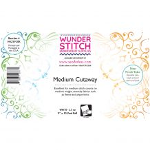 WunderStitch 2.5oz Medium Weight Cutaway Embroidery Stabilizer 9in x 10yd Roll - INCLUDES 10 FREE EMBROIDERY NEEDLES
