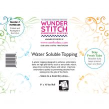 WunderStitch .09oz Water Soluble Embroidery Stabilizer 8in x 10yd Roll - INCLUDES 10 FREE EMBROIDERY NEEDLES