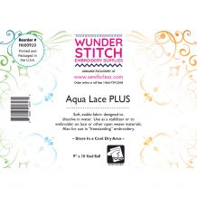 WunderStitch Aqua Lace PLUS Embroidery Stabilizer 9in x 10yd Roll - INCLUDES 10 FREE EMBROIDERY NEEDLES