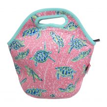 The Coral Palms® Neoprene Lunch Tote - Solely Sea Turtles Collection