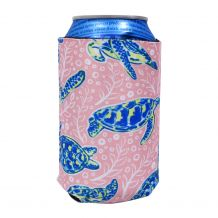 The Coral Palms® 12oz Neoprene Can Coolie - Solely Sea Turtles Collection