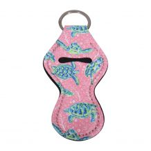 The Coral Palms® Neoprene Chapstick Holder - Solely Sea Turtles Collection