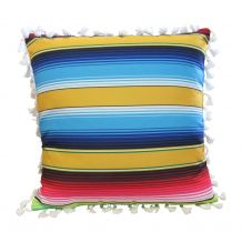 """The Coral Palms® 16"""" Tassel Premium Canvas Throw Pillow Cover - Serape Fiesta Collection - CLOSEOUT"""
