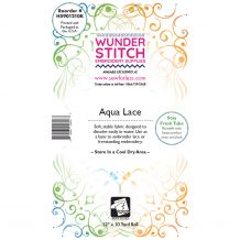 WunderStitch Aqua Lace Embroidery Stabilizer 12in x 10yd Roll - INCLUDES 10 FREE EMBROIDERY NEEDLES
