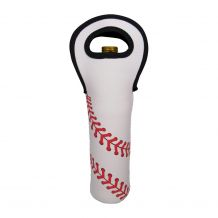 The Coral Palms� Baseball 750 ml Wine Bottle Neoprene Carrier Tote