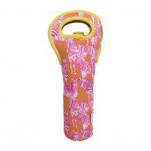 The Coral Palms� 750 ml Wine Bottle Neoprene Carrier Tote - So Zebralicious Collection