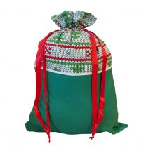 Christmas Gift Bag Blank with Ribbon Pulls - NORDIC CHRISTMAS - CLOSEOUT