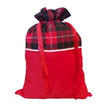 Christmas Gift Bag Blank with Ribbon Pulls - PLAID - CLOSEOUT