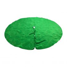 The Coral Palms� Quilted Heirloom Farmhouse Christmas Tree Skirt - GREEN - CLOSEOUT