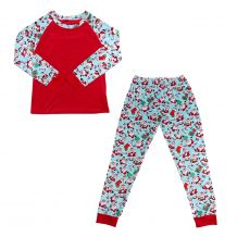 The Coral Palms� Ultra-Soft Children's Raglan Santa Christmas Pajamas - CLOSEOUT