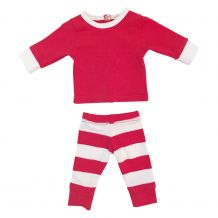 "Christmas Striped Pajamas for 18"" Dolls - RED/WHITE - CLOSEOUT"