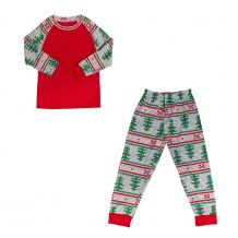 The Coral Palms� Ultra-Soft Children's Raglan Nordic Christmas Pajamas - CLOSEOUT